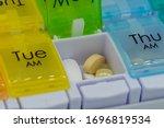 A Close Up Of Pills Inside A...