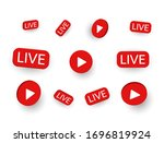 live stickers set on white... | Shutterstock .eps vector #1696819924