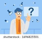 smart doctor presenting action. ...   Shutterstock .eps vector #1696825501