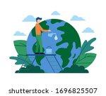 vector flat illustration ...   Shutterstock .eps vector #1696825507