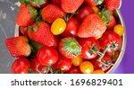 Pile Of Strawberries  Cherry...