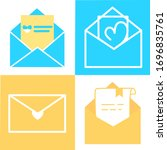 set of email icons. open...