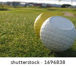 Tee Markers On Golf Course