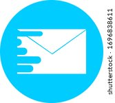 email in blue circle icon. open ...