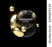 ramadan kareem. abstract... | Shutterstock .eps vector #1696845124