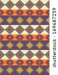 ethnic seamless pattern design. ...   Shutterstock .eps vector #169687259