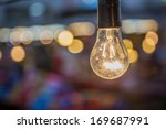 tungsten lamp with a bokeh...   Shutterstock . vector #169687991