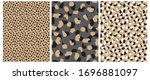 Abstract Leopard Skin Seamless...