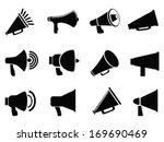 megaphone icons | Shutterstock .eps vector #169690469