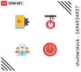4 user interface flat icon pack ...
