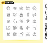 pictogram set of 25 simple...