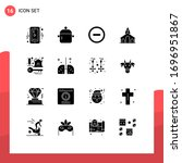 set of 16 modern ui icons...