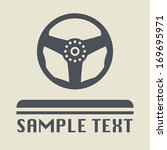 steering wheel icon or sign ... | Shutterstock .eps vector #169695971
