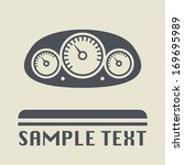 car instruments icon or sign ... | Shutterstock .eps vector #169695989