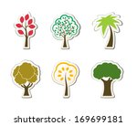 tree symbols for green web... | Shutterstock .eps vector #169699181