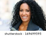 portrait of a young black woman ...   Shutterstock . vector #169699595