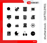 16 solid glyph concept for...