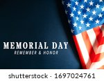 memorial day with american flag ... | Shutterstock . vector #1697024761