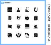16 universal solid glyphs set...