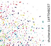 color abstract confetti...   Shutterstock .eps vector #1697048257