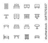 icon set of furniture. editable ... | Shutterstock .eps vector #1697070337