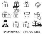 set of gift box icons  such as... | Shutterstock .eps vector #1697074381