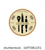 restaurant logo  vector kitchen ... | Shutterstock .eps vector #1697081251