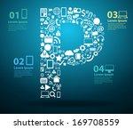 application icons alphabet... | Shutterstock .eps vector #169708559