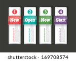 set of paper tag labels... | Shutterstock .eps vector #169708574