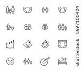 premium set of kid line icons.... | Shutterstock .eps vector #1697100424