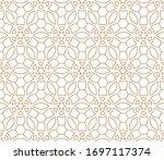 vector ornamental seamless... | Shutterstock .eps vector #1697117374