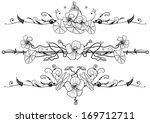 set of floral background with... | Shutterstock . vector #169712711