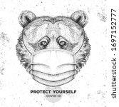 hand drawing animal bear... | Shutterstock .eps vector #1697152777