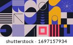 neo modernism artwork pattern... | Shutterstock .eps vector #1697157934