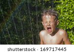 Cute  Young Boy Playing In The...