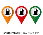 map pointer with gas station... | Shutterstock .eps vector #1697176144