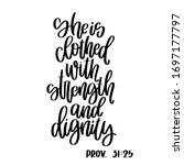 Proverbs 31 25 Christian Bible...