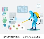 pest control. pest control at...   Shutterstock .eps vector #1697178151