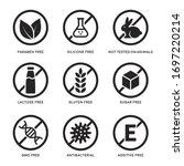 set of icons gluten free ...   Shutterstock .eps vector #1697220214