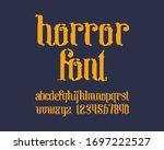 horror designer font set in... | Shutterstock .eps vector #1697222527