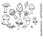 set of sketches of forest... | Shutterstock . vector #1697241547