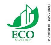 eco building tower vector logo... | Shutterstock .eps vector #1697248057