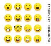 smileys emoticons  emoji vector ... | Shutterstock .eps vector #1697255311
