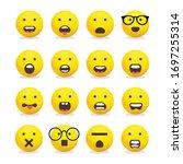 smileys emoticons  emoji vector ...   Shutterstock .eps vector #1697255314