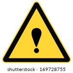 rounded triangle shape hazard... | Shutterstock .eps vector #169728755
