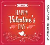 happy valentine's day hand...   Shutterstock .eps vector #169729409