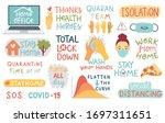 coronavirus covid 19 letterings ... | Shutterstock .eps vector #1697311651