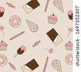 sweets. set of sweets. candy ... | Shutterstock .eps vector #1697352307