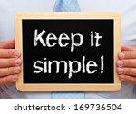 Stock photo keep it simple 169736504