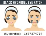 black hydrogel eye patches.... | Shutterstock .eps vector #1697374714